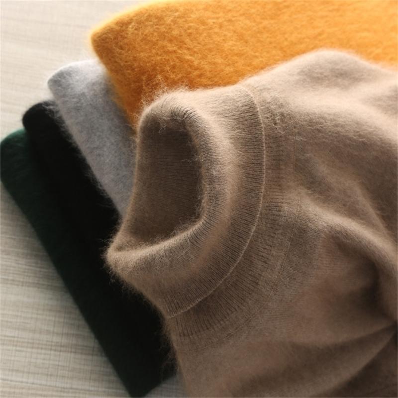 Зимняя толстая теплая норка кашемировой свитер мужчины водолазки мужские кофты стройные посадки пуловер мужчины классические шерстяные трикотажные одежды тянуть Homme Tops 201221