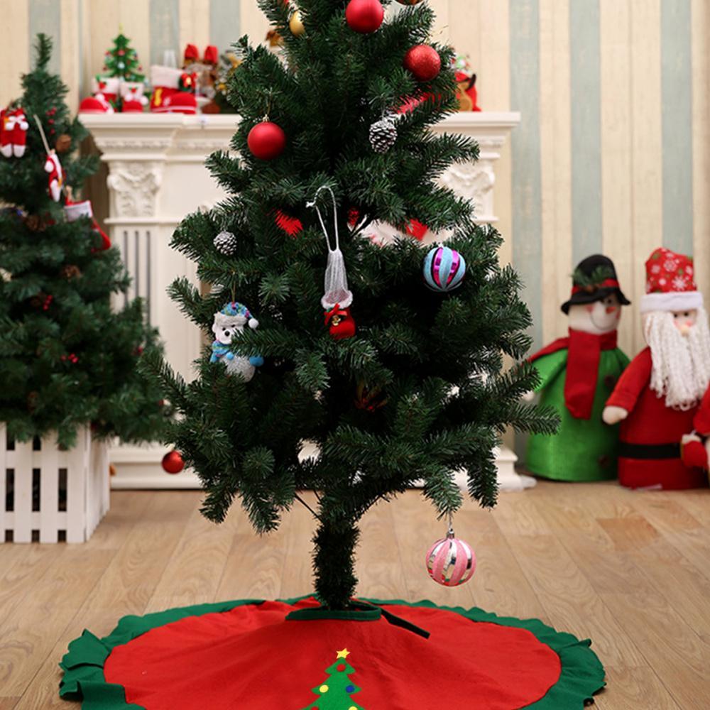 Accesorio falda del árbol de Navidad 1pc árbol de navidad delantal falda de Navidad para el partido del hogar de piso