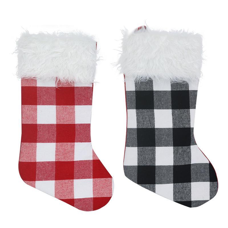 Weihnachtsstrümpfe Dekor Weihnachtsbäume Ornament Party Dekorationen Weihnachtsmann Weihnachten Stocking Candy Socken Taschen Weihnachten Geschenke Tasche 02