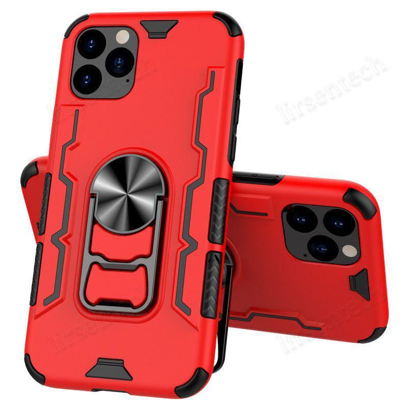 2 en 1 teléfono celular multi del color del caso del anillo de montaje del coche del móvil del caso para el iphone 6 7 8 6s XS Plus X Max XR 11 Pro 12 soporte de la cubierta de la nave libre