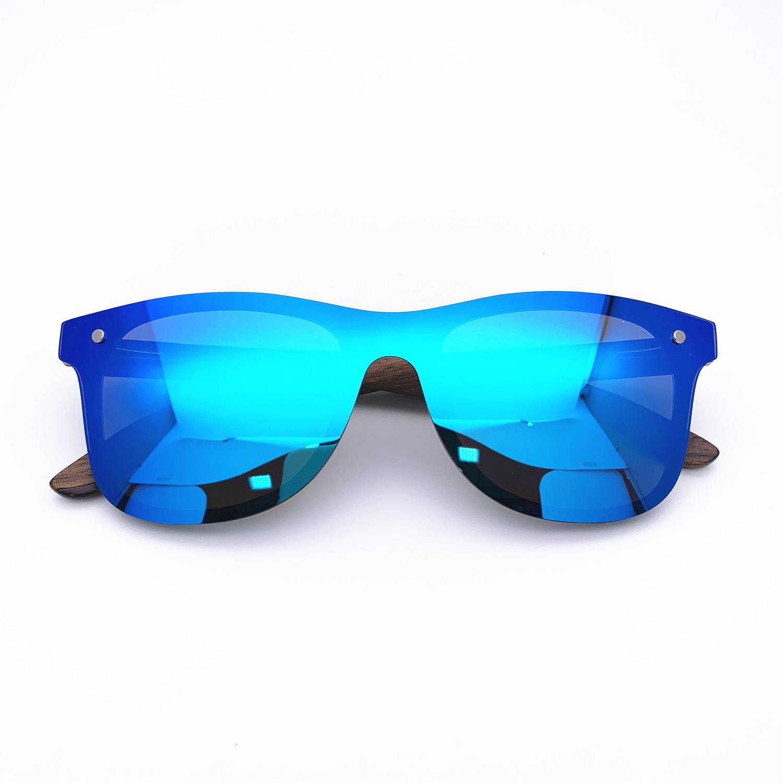 Belight Optical Randlos Bambus Arm Frauen Männer polarisierten Schutz Quadratisch Vintage Retro-Sonnenbrille mit Etui Oculos