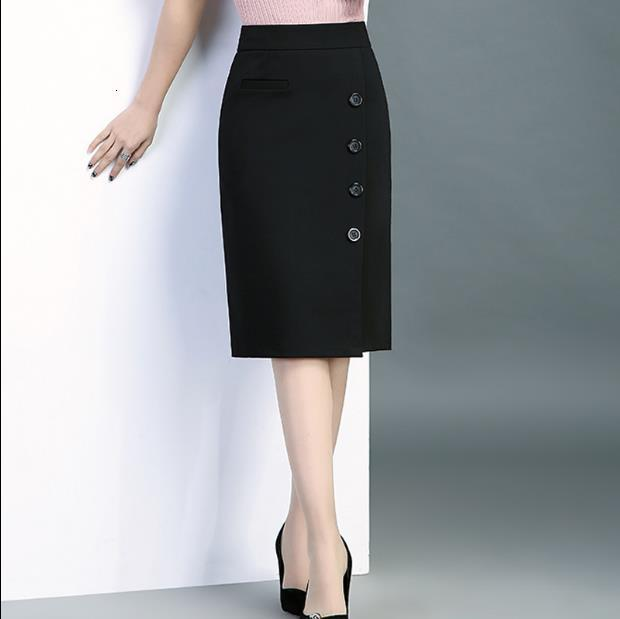 From Women's Black Sack Hip Summer Skirt Single-breasted M-4xl Xp9q