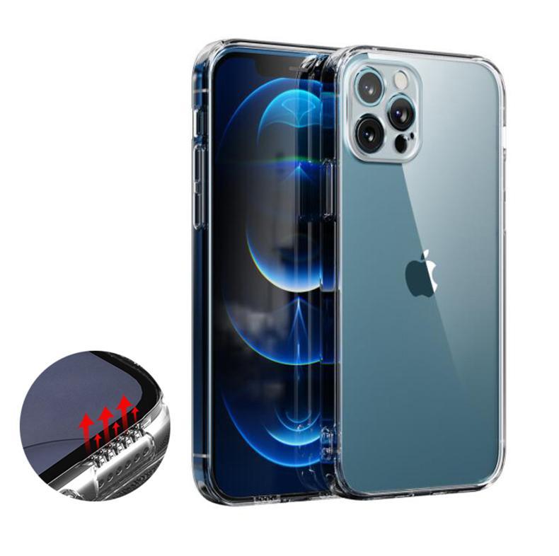 6D estereofônica transparente claro tpu acrílico à prova de choque hard tolo para iphone 12 mini 11 pro max xr xs 6 7 8 plus