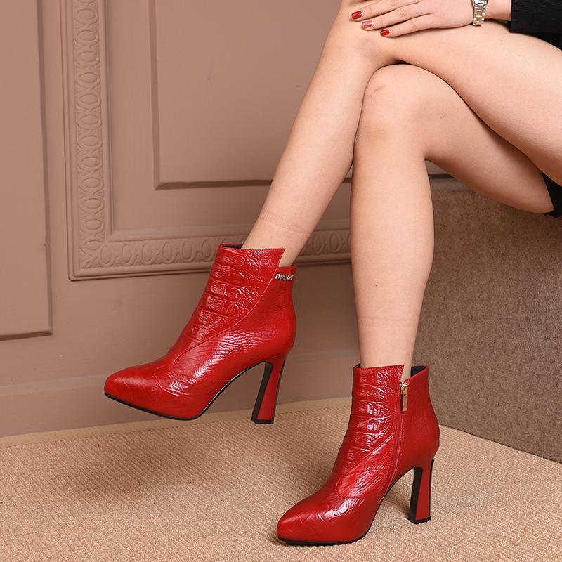 2021 в горячем подлинном 22-24,5 см стопы длина груза бесплатная обувь женские ботинки рельеф 1kai