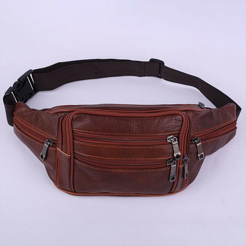 En la bolsa de bolsa de calidad de la manera de los nuevos hombres de la correa del bolso de la cadera Carry Fanny monedero Paquete de viaje de la cintura alta Xkgtm Hlsgi Piel