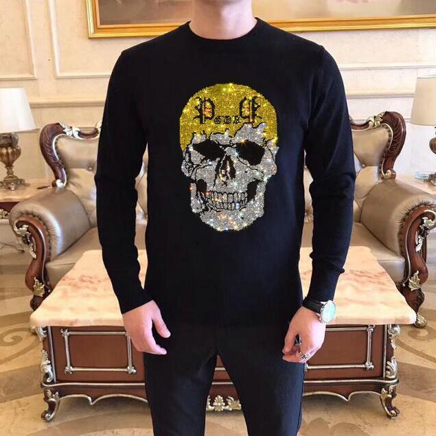 Новые зимние алмазные каменные свитера мужчины уличная одежда повседневная фитнес пуловер 2021 свитер 2SL9