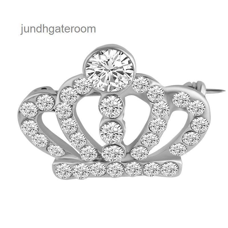 Rhinstone Toptan Ucuz Taç Broş Kostüm CZ Takı Kadınlar Için Kostüm CZ Takı Zirkon Kristal Broş Pins Düğün Takı Hediyeler LY1