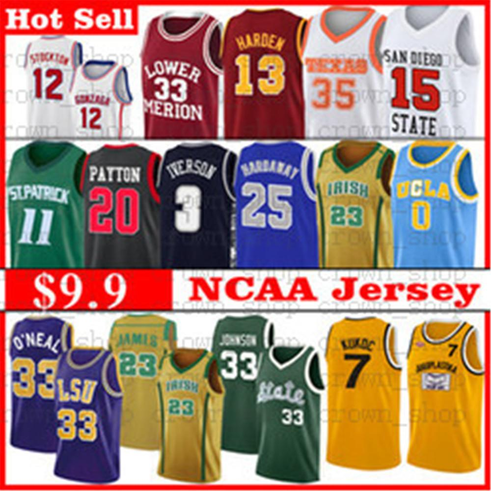 NCAA Basketball James Davis Jerseys Wade Durant Irving Embiid Simmons Antetokounmpo 23 Michael Mitchell Carter O'Neal