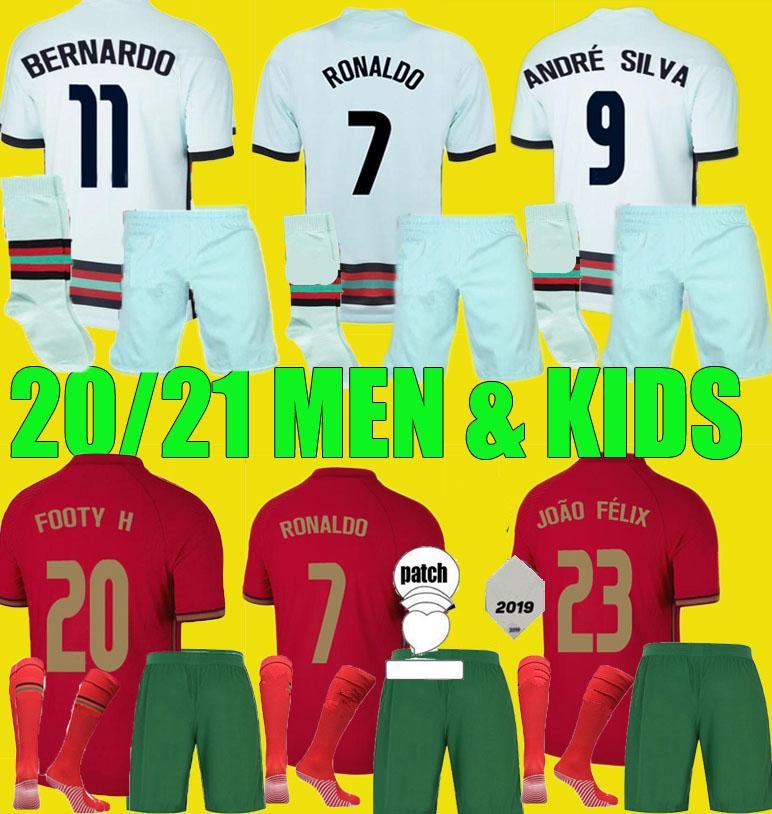 20 21 Fernandes Ronaldo Joao Felix Futbol Jersey Erkekler Çocuk Kiti 2020 2021 André Silva Pepe Danilo Quaresma Futbol Gömlek Erkek Set Üniformaları