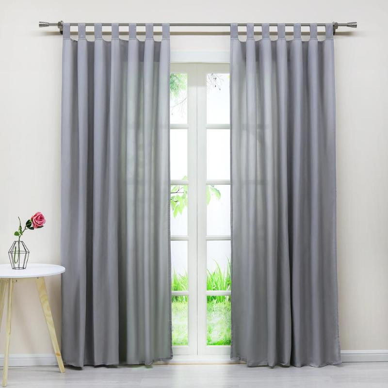 1PCS Simple Solid Color Curtain Bedroom Living Room Microfiber Curtain