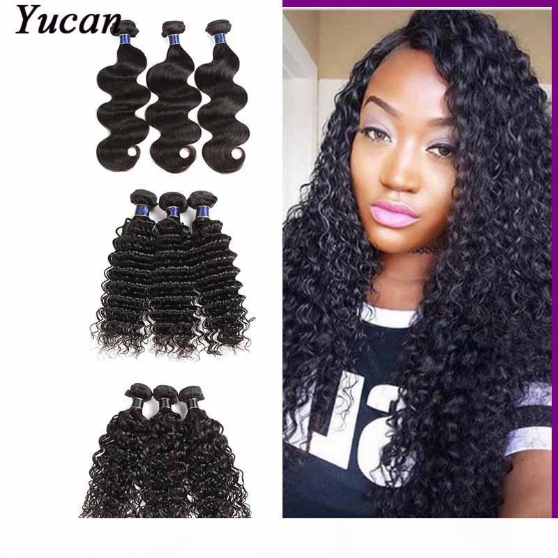 Малайзийские перуанские волосы прямые кузова волна 3 4 связки Remy наращивание человеческих волос глубокие водяные волны свободные глубокие 50 г шт. Плетение волос