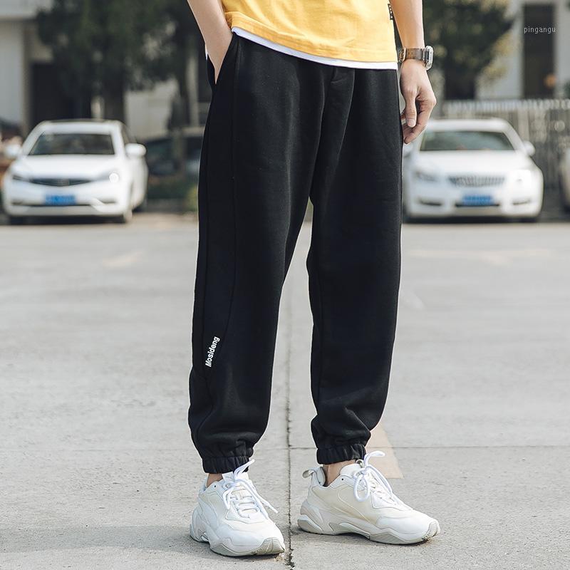Nuevos pantalones casuales de hombres sueltos Harajuku-Beam Pantalones de pierna de primavera y verano Baloncesto Jogging Sports Guapo Men's1