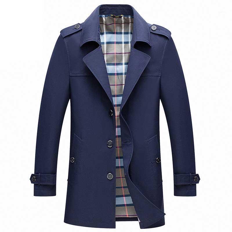 Mens Trench Coats Männliche Blazer Designs Slim Fit Business Casual Anzug Jacke V-ausschnitt dünne Frühling Herbstgrabenjacken Windjacke1