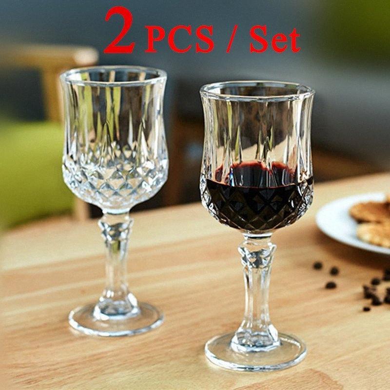 2 PCS / Set vin rouge Coupe du verre cristal Coupe verres Party Bar potable prix de gros de la #