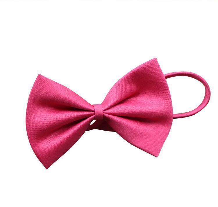 19 Colors Adjustable Pet Dog Bow Tie Dog Tie Collar Flower Accessories Decoration Supplies Pure Color Bowknot Necktie Grooming wmtCdYl