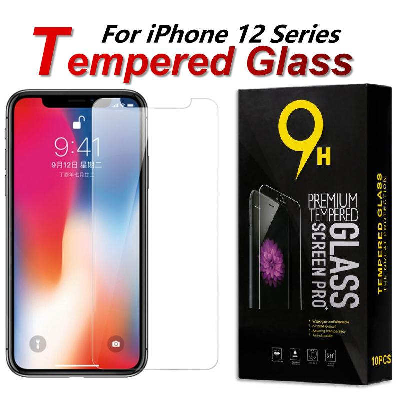 For iphone 12 Pro Max Mini 9H Tempered Glass Clear Screen Protector For iPhone SE 2020 11 Pro Max X XR XS MAX 7 8 6 Plus 5 5S With Paper Box