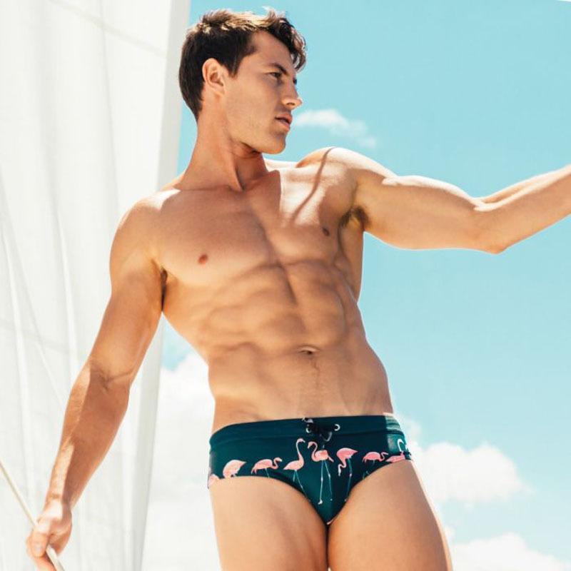 Peinted Mounts плавать стволы быстрый сухой купальник с низкой талией мужские боксер купальник сексуальные гей-трусы купальники 2019 летняя пляжная одежда