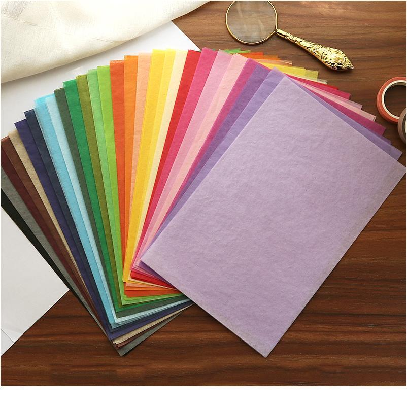 100pcs/ Bag 210*139mm Colorful Tissue Paper Flower Wine Wrapping Papers Home Deco Festive & Party Wedding Diy Packing jllbsF