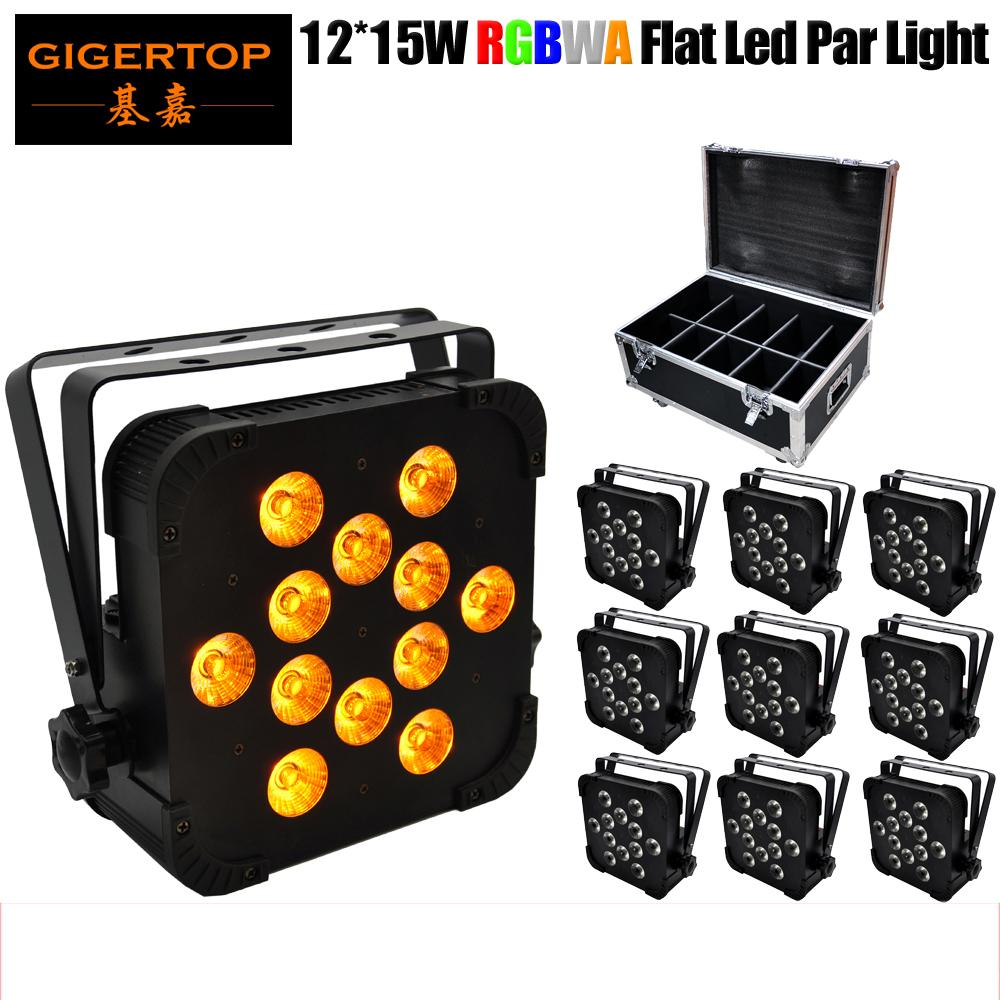 tekerlekli TIPTOP 5IN1 10XLOT RGBWA Düz Led Par Işık Amerikan DJ Mega Düz TRI Pak LED Par Işık ProSound 10in1 Flightcase Paketi