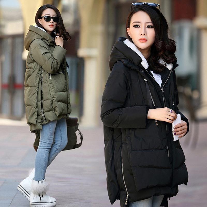 Mujeres embarazadas Ropa Outerwear Outer Size S -5XL abrigo de maternidad Invierno Embarazo de manga larga con capucha con capucha espesante de la capa casual CHEL