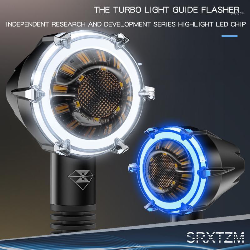Аварийные огни SRXTZM 1 пара мотоцикл модифицированные поворотные сигналы дневного проживания высокий яркий водонепроницаемый светодиодный рулевой свет 12V предупреждение свет