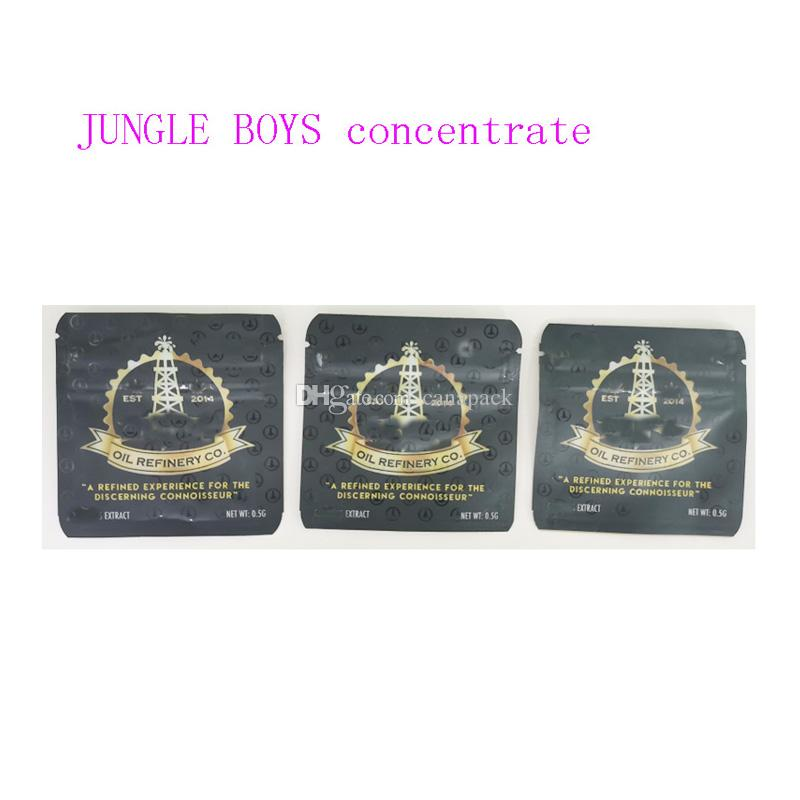 420 0.5G jungle boys mylar bags wax concentrate packaging with child proof the discerning connoisseur smell proof bags