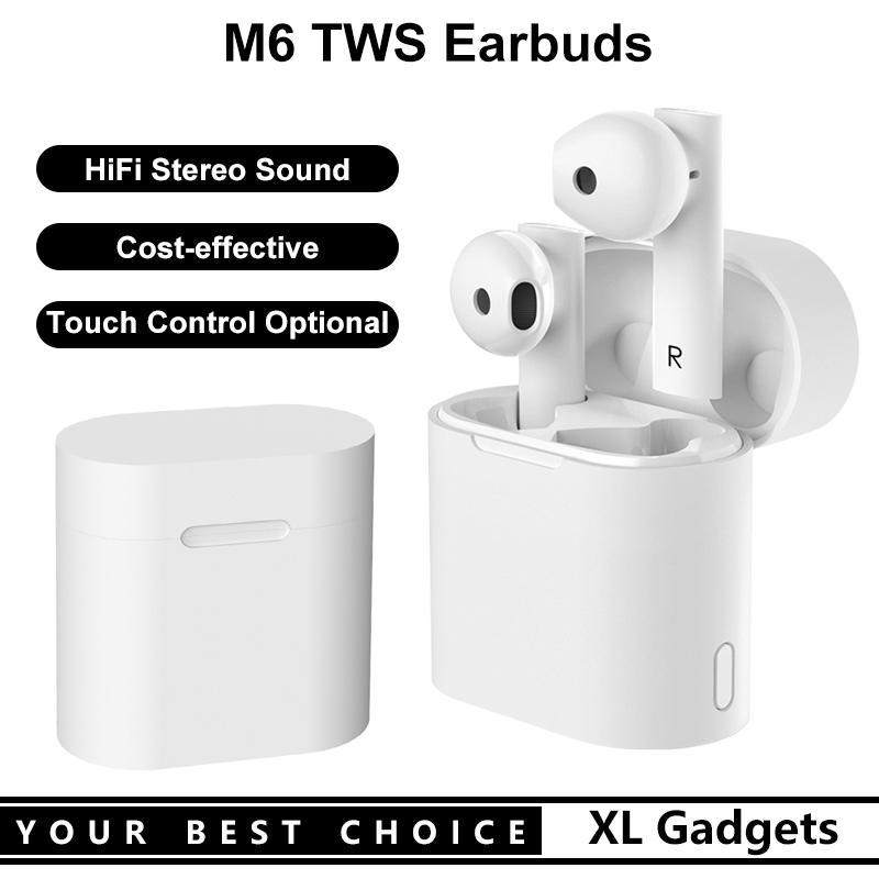 M6 Hifi Стерео Звук TWS Наушники TRAVE TRUE Wireless Bluetooth-гарнитура с сенсорным управлением Дополнительным для мобильных телефонов