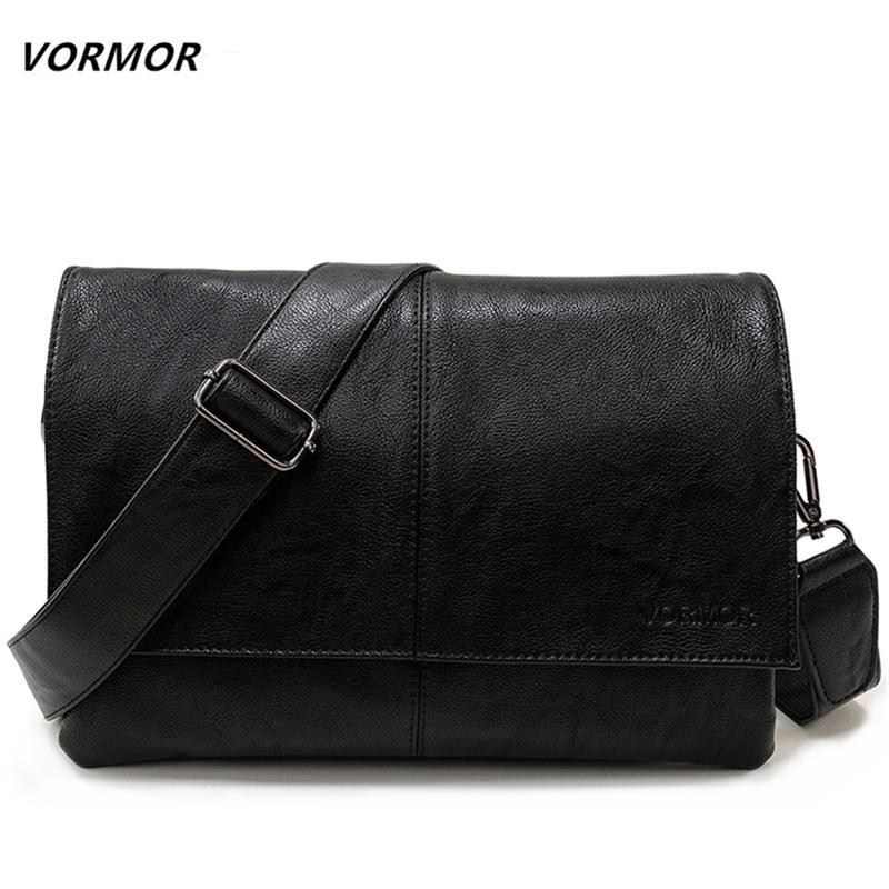 Vormor Brand Enventes décontractées Sac à main Sac à main en cuir Hommes Bandbody Sac Business Sacs Business Sacs Messenger Y201224