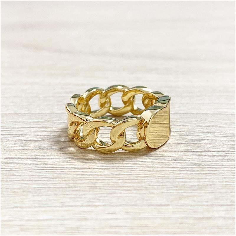 2020 جديد الملتوية النحاس الزفاف الدائري cd ذهبي الدائري للنساء أزياء بسيطة الحب المجوهرات البوهيمي للنساء مع مربع
