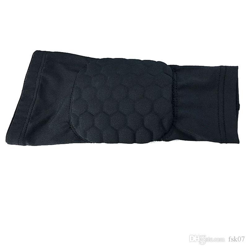 1Pcs elastico Gym Sport Pallacanestro manica del braccio Crashproof a nido d'ape di sostegno del gomito gomitiere proteggi L