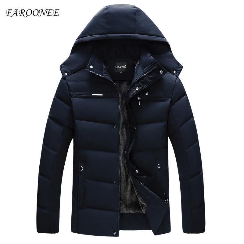ceket kapüşonlu sıcak erkek giyim 201021 aşağı ceket erkek aşağı Faroonee moda sonbahar ve kış düz renk yeni streetwear