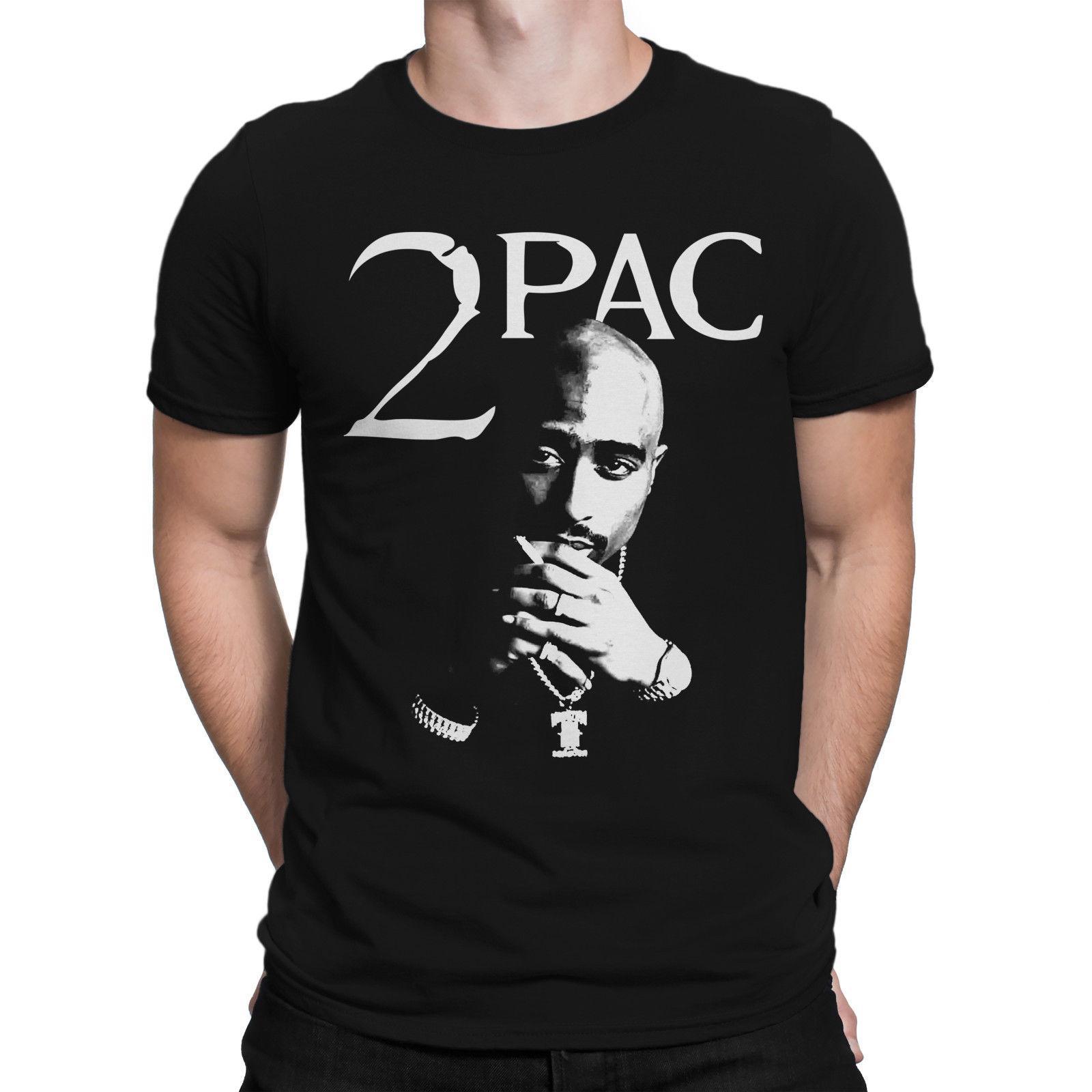 спорт 2019 Новый летний Слим майка 2Pac Тупак Шакур Иконка Rap Hip Hop Мужчины Печатные футболки