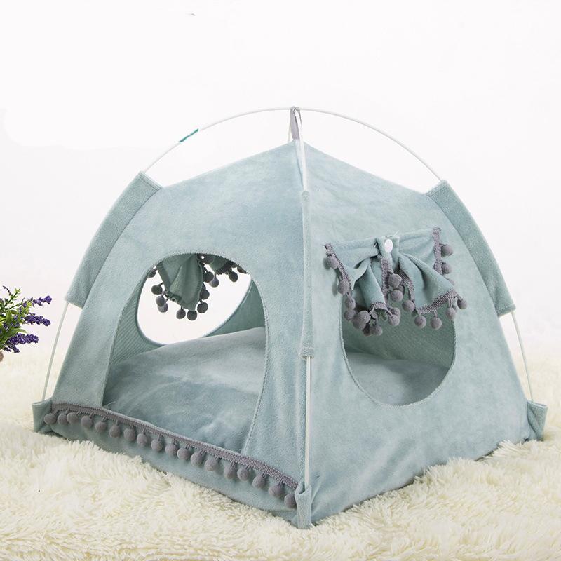 Hundebett für Katzenhaus gemütliche Produkte für Tierzubehör Nest bequem beruhigende Katze Betten für kleinen Katze Hunde Chihuahua Zelt Hängematte