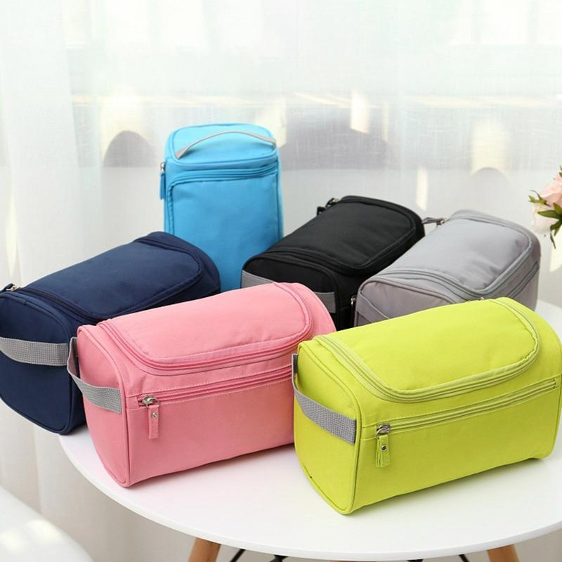 1 PC Mujer grande Hombres Bolsa de lavado Impermeable Oxford Cosmetic Bag Maquillaje de viaje Belleza Cosmética Kit Kit Necessirios