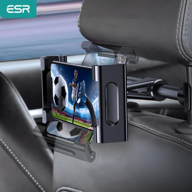 ESR Car Tablet Phone Holder Ajustable iPad Stand Car Back Seat Holder For Headrest 360 Rotation Car-mounted for iPad