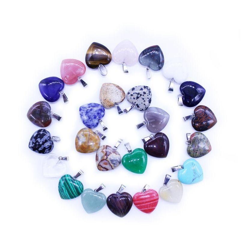 Оптом трансграничный специальный кулон в форме сердца натуральный камень персиковое сердце кулон женское ожерелье любовь подвеска аксессуары Dure6