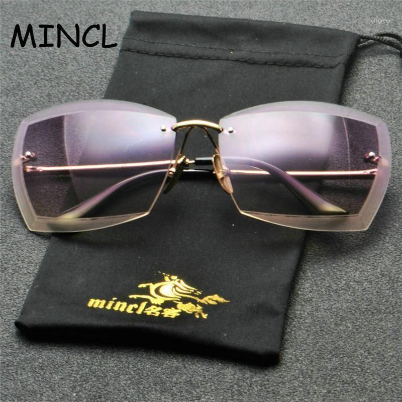 2020 Новые Солнцезащитные очки Для Женщин Квадрат Rimless Diamond Резка Бренд Дизайнер Мода Оттенки Коричневые Фиолетовые Солнцезащитные Очки FML1