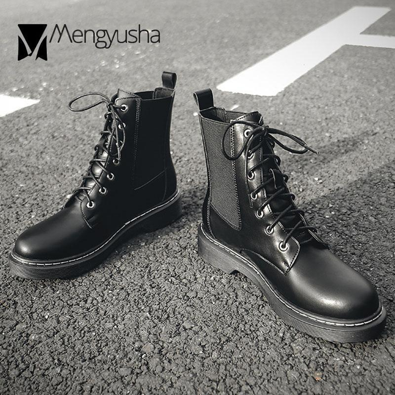 2020 British Elastic band riding boots women shoes short stretch sock booties female lace-up motorcycle botas large size 35-43