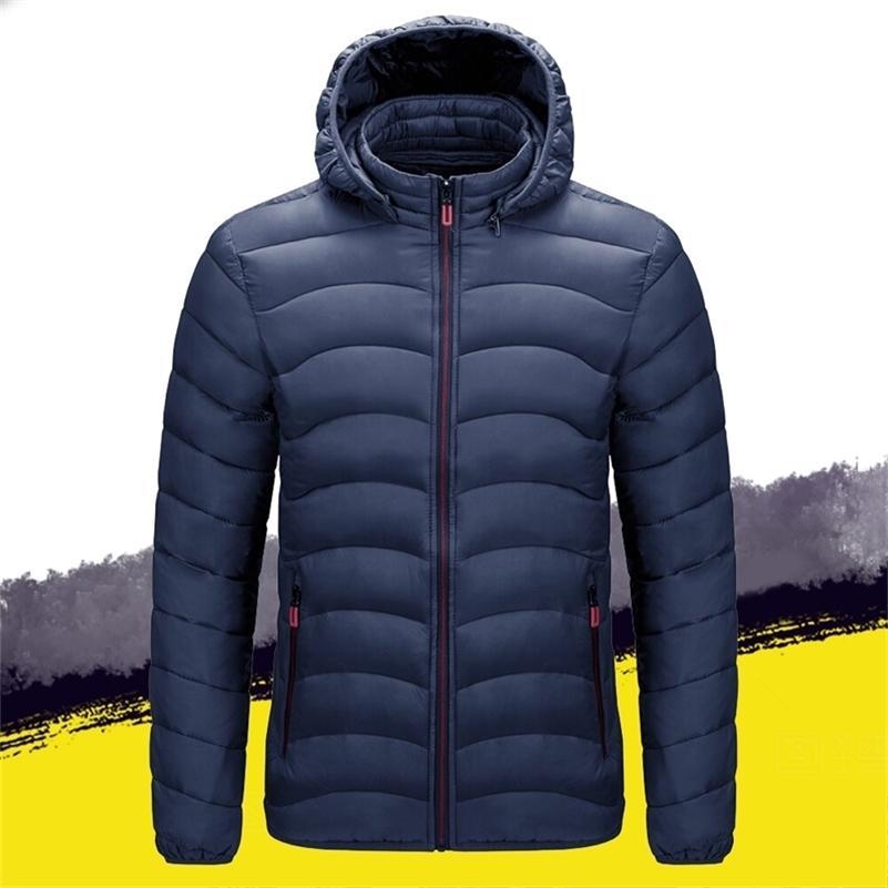 Veste d'hiver Mens Parkas manteau extérieur épais coton chaud coton rembourré veste hommes chaquettas invierno zippot manteau à capuche 4xl 201027
