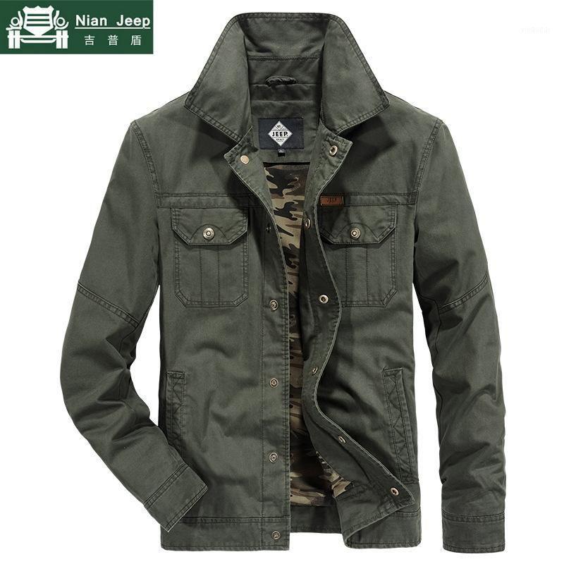 2020 Jaqueta de Primavera Homens Marca Camuflagem Liner Algodão Outwear Mens Casacos e Casacos Windbreaker Bomber Jacket M-4XL1