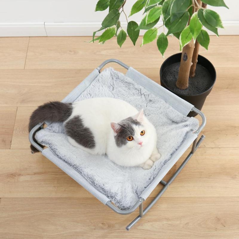 Chat Lits Meubles Square Shape Pet Sleeping House House Chaise à bascule chaude Nid Durable avec tapis de coussin détachable