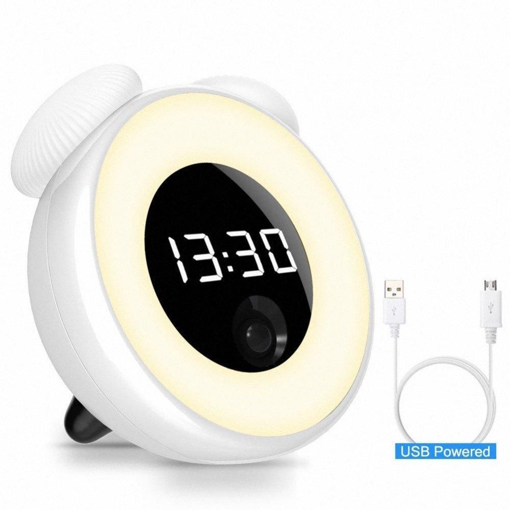 Электронный цифровой будильник Регулируемый свет ночи малыш будильники датчик движения Не беспокоить Настольные часы для детей спальня Y0JP #