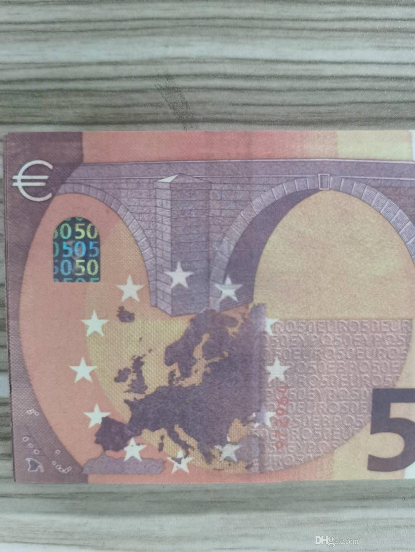 Spiel 100pcs / Packung oder / Euro / Dollar kopieren Geldprop papierfamilie realistische Kinder am meisten Spielzeug031 US-Banknote qhfax