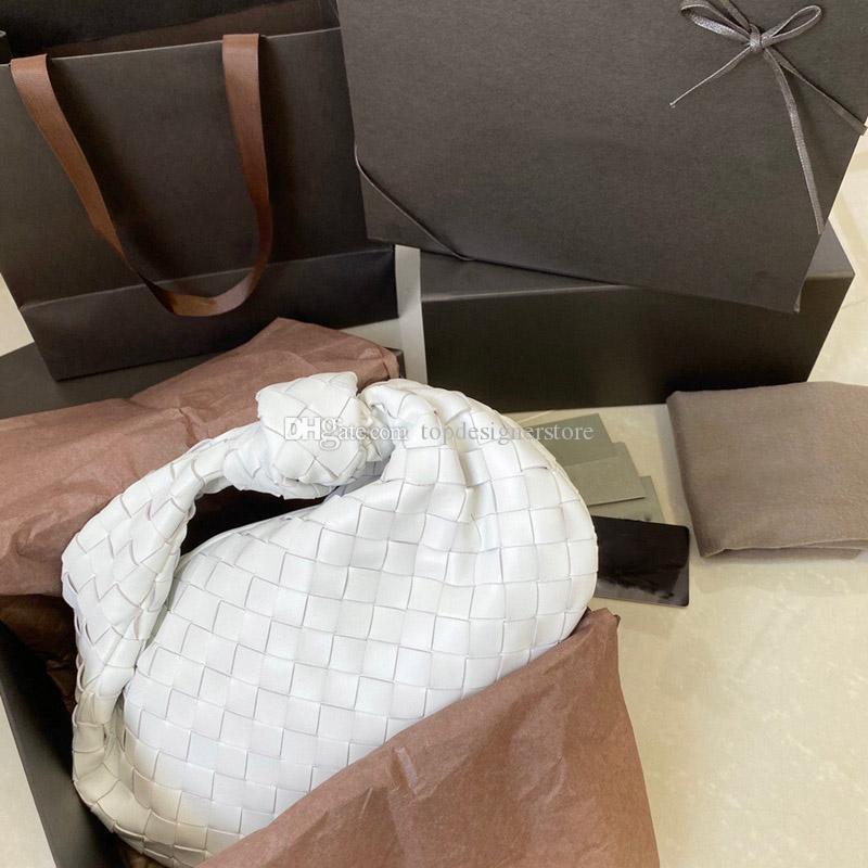 Yüksek Kaliteli Çantalar Yuvarlak Tasarımcı Çantalar Jodie Çanta Kadın Dokuma Deri Hobo Lüks Tote Bayan Çanta Moda Çanta Jatke