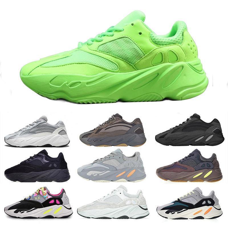 700 V2 Sal corredor da onda malva OG Cinza contínuo 3M Mulheres dos homens do desenhista Shoes Preto Verde Branco Costura Sneakers Cor Atletismo Desportos