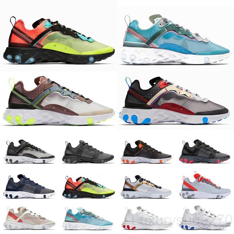 Sous-recouverte x à venir Air Element 87 Baskets blanches Marque Hommes Femmes Femmes Formatrices Hommes Femmes Casual Chaussures Zapatos TY5C