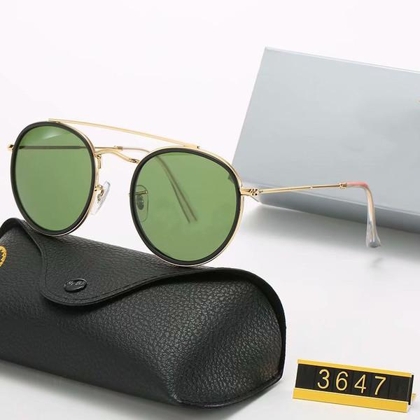 كلاسيكي العلامة التجارية مصمم جولة الاستقطاب النظارات الشمسية القيادة نظارات معدنية الذهب إطار نظارات الرجال النساء مرآة النظارات الشمسية البولارويد زجاج عدسة