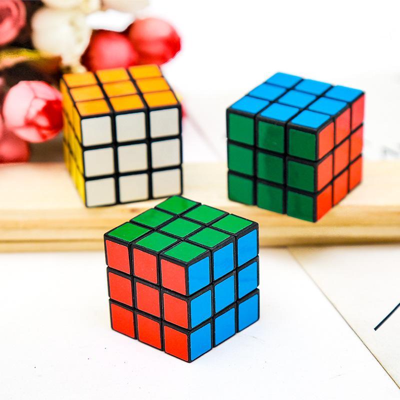 퍼즐 큐브 작은 크기 3cm 미니 매직 큐브 게임 매직 학습 교육 게임 매직 큐브 좋은 선물 장난감 감압 아이 장난감