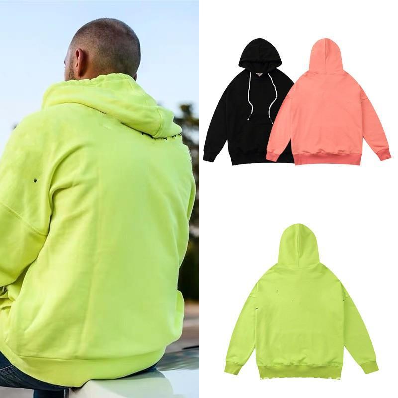 Erkek Kapşonlu Hoodies Bayan Moda Streetwear Kazak Tişörtü Gevşek Hoodies Hip Hop Uzun Kollu Tişörtü G92011