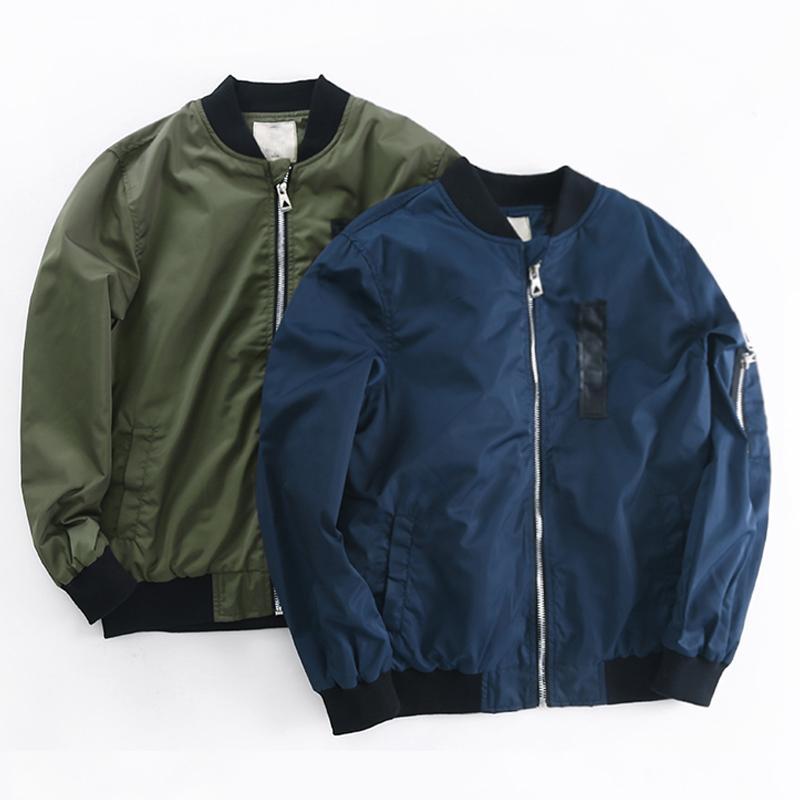 2020 Giacche autunnali della primavera per il cappotto del ragazzo Bomber Giacca Green Boy Giacca a vento Giacca invernale Bambini Bambini Giacca solida Y200831